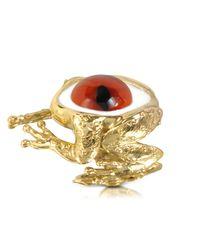 Bernard Delettrez - Metallic Bronze Frog Ring With Eye - Lyst