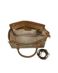 Michael Kors - Brown Selma Medium Luggage Saffiano Leather Top-zip Satchel Bag - Lyst