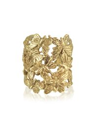 Bernard Delettrez | Metallic Butterflies Flat Bronze Ring | Lyst