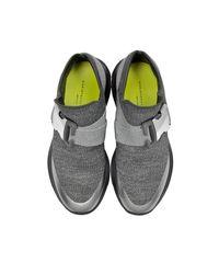Christopher Kane - Gray High Top Lurex Grey & Silver Sneaker - Lyst