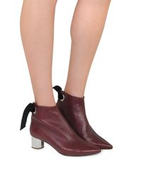 Proenza Schouler - Purple Burgundy Nappa Lather Ankle Boot - Lyst