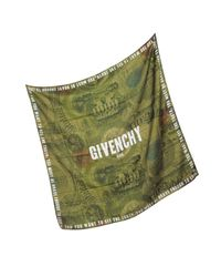 Givenchy - Green Cotton And Silk Signature Wrap - Lyst