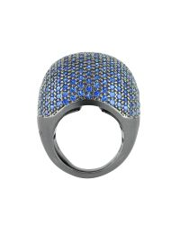 Azhar - Multicolor Blue Cubic Zirconia Fashion Ring - Lyst