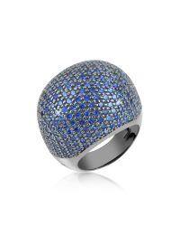 Azhar - Multicolor Blue Cubic Zirconia Fashion Ring - Lyst