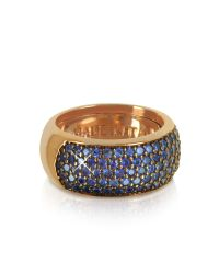 Azhar   Pink Blue Cubic Zirconia Silver Vermeil Ring   Lyst