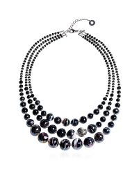 Antica Murrina - Optical 1 Top - Black Murano Glass Choker - Lyst