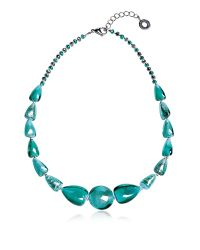 Antica Murrina | Blue Marina 2 Basic - Turquoise Green Murano Glass And Silver Leaf Choker | Lyst