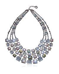 Antica Murrina | Gray Atelier Byzantium - Grey Murano Glass & Silver Leaf Choker | Lyst