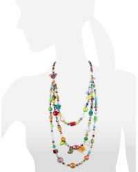 Antica Murrina - Brio - Triple-strand Multicolor Murano Glass Bead Necklace - Lyst