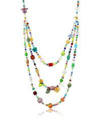 Antica Murrina | Brio - Triple-strand Multicolor Murano Glass Bead Necklace | Lyst