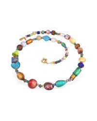 Antica Murrina | Metallic Fanny - Multicolor Murano Glass Bead Necklace | Lyst