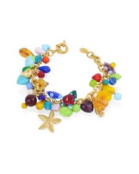 Antica Murrina | Blue Marilena - Murano Glass Marine Gold Plated Bracelet | Lyst