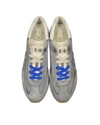 D'Acquasparta - Leonardo Gray Fabric And Suede Sneaker for Men - Lyst