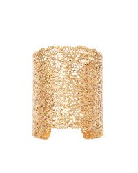 Aurelie Bidermann | Metallic Small Vintage Lace Gold Plated Cuff | Lyst