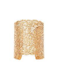 Aurelie Bidermann - Metallic Small Vintage Lace Gold Plated Cuff - Lyst