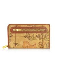 Alviero Martini 1A Classe | Natural Geo Print Zip Around Wallet | Lyst