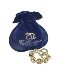 AZ Collection - Metallic Gold Plated Chain Toggle Bracelet - Lyst