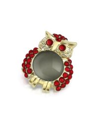 AZ Collection | Metallic Red Owl Pin | Lyst