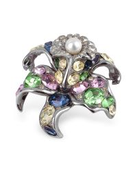 AZ Collection - Multicolor Flower Brooch - Lyst