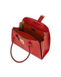 Furla | Red Ruby Milano Medium Leather Tote Bag | Lyst