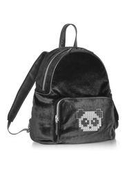 Les Petits Joueurs - Black Velvet Peter Metal Panda Backpack - Lyst