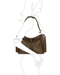 Buti | Charm Drop Dark Brown Pebble Italian Leather Hobo Bag | Lyst