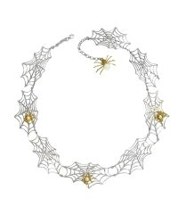 Bernard Delettrez | Metallic Silver Chains With Bronze Skulls And Dagger Necklace | Lyst