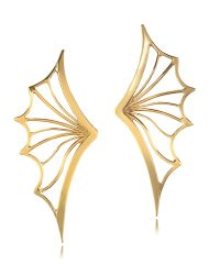 Bernard Delettrez - Metallic Bronze Bat Wing Earrings - Lyst
