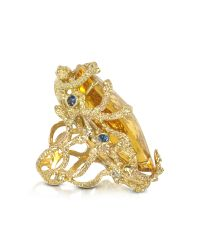 Bernard Delettrez - Metallic Medusa Gold And Citrine Ring - Lyst