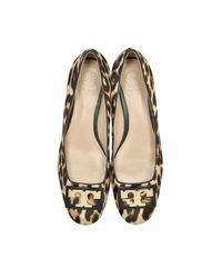 Tory Burch | Brown Gigi Natural Leopard Print Leather Mid-heel Pumps | Lyst
