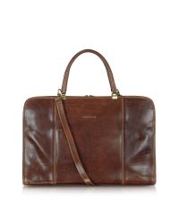 Chiarugi - Brown Double Handle Leather Briefcase for Men - Lyst
