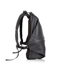 Côte&Ciel - Meuse Black Coated Canvas Backpack - Lyst