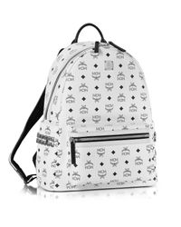 MCM - White Medium Stark Backpack - Lyst