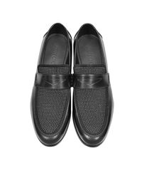 Jimmy Choo - Darblay Shiny Black Leather And Suede Loafers W/studs for Men - Lyst