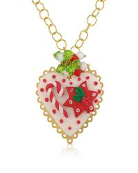 Dolci Gioie | Red Christmas Heart Necklace | Lyst