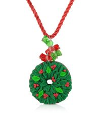 Dolci Gioie - Green Christmas Wreath Necklace - Lyst