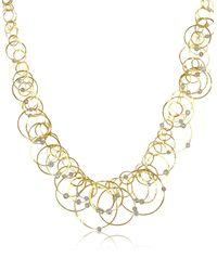 Orlando Orlandini - Metallic Scintille Anniversary - Diamond 18k Yellow Gold Necklace - Lyst