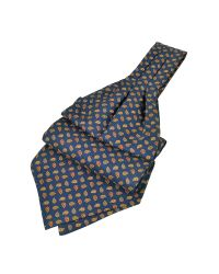 FORZIERI - Blue Mini Paisley Print Silk Ascot for Men - Lyst