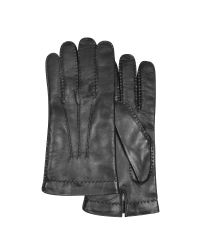 FORZIERI | Men's Cashmere Lined Black Italian Leather Gloves for Men | Lyst