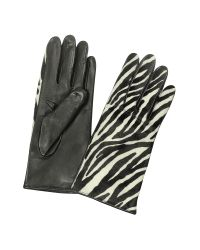 FORZIERI | Multicolor Women's Zebra Pony Hair And Italian Nappa Leather Gloves | Lyst