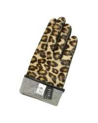 FORZIERI - Multicolor Women's Leopard Pony Hair And Italian Nappa Leather Gloves - Lyst