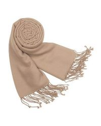 FORZIERI - Natural Solid Pashmina & Silk Fringed Shawl - Lyst