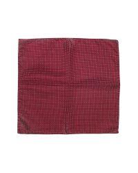 FORZIERI - Blue Mini Polkadot Twill Silk Pocket Square for Men - Lyst