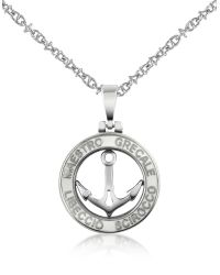 FORZIERI | Metallic Stainless Steel Anchor Pendant Necklace | Lyst