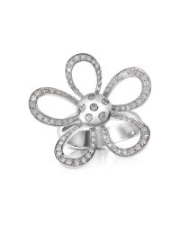 FORZIERI | Metallic 0.57ct Diamond Flower 18k Gold Ring | Lyst