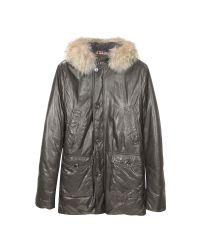 FORZIERI | Black Men's Hooded Leather Car Coat for Men | Lyst