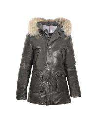 FORZIERI - Black Men's Hooded Leather Car Coat for Men - Lyst
