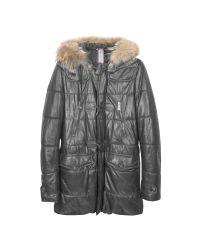 FORZIERI   Black Leather Montgomery Coat for Men   Lyst