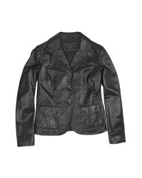 FORZIERI | Black Genuine Italian Leather Jacket | Lyst