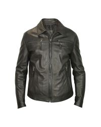 FORZIERI | Men's Black Genuine Leather Zip Jacket for Men | Lyst